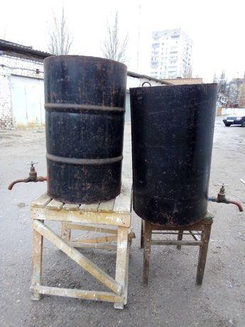 Продам металлические бочки для хранения непищевых жидкостей