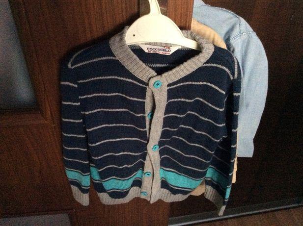 Sweter chłopięcy coccodrillo 80cm