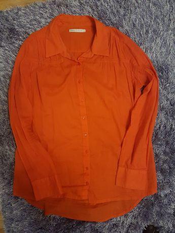 Koszula damska w kolorze czerwonym, koralowym