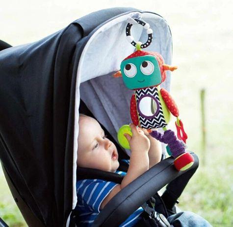 Zawieszka kontrastowa ROBOCIK do wózka łóżeczka dla dziecka NOWA