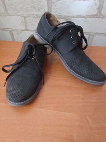 Туфли замшевые р. 37, полукеды р. 35 на мальчика
