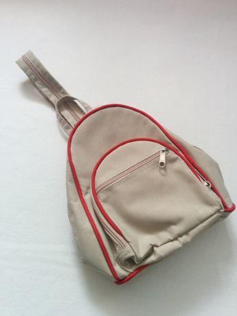 Mały beżowy PLECAK plecaczek