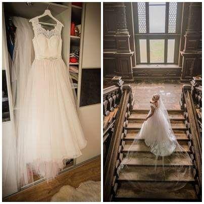Suknia ślubna Victoria Soprano Joyce ecru pudrowy róż