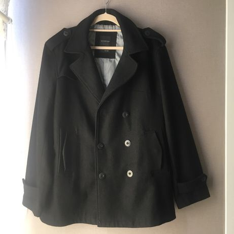 Kurtka, płaszcz, palto, kubrak męski, czarny Reserved