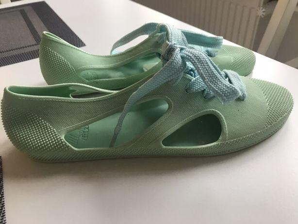 Buty gumowe w kolorze miętowym roz.37