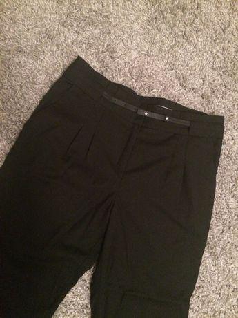 Czarne eleganckie spodnie H&M boyfriend chinos