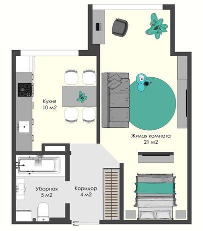 Продам 1-но комнатную квартиру, Суворовский район, поселок Котовского