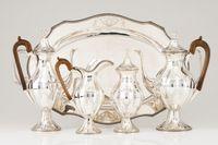 Lindissimo serviço de chá e café em prata portuguesa