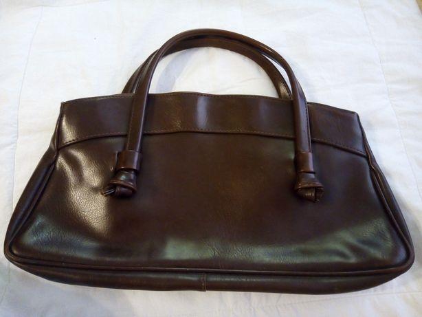 Skórzana torebka brązowa