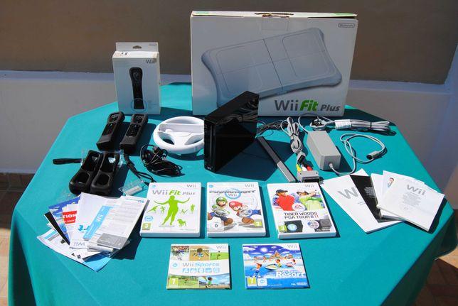 Wii + Comandos + jogos Nintendo