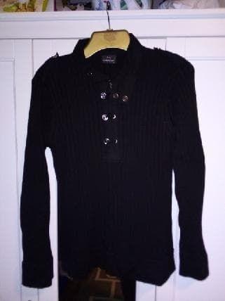Sweter zimowy męski czarny M
