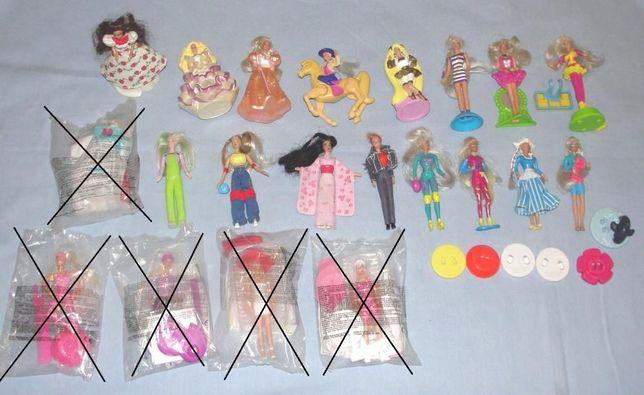 Lote de 16 antigas Barbies oferta Happy Meal da Mcdonald´s