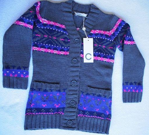 Kardigan / sweter dziewczęcy – Nowy z metką – rozm. 110