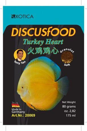 Discusfood Turkey Heart serce indycze pokarm dyskowce EXOTICA DISCUS