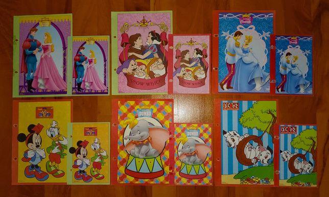 Karteczki Myszka Miki, Dumbo, Król Lew, Księżniczki, Kubuś Puchatek