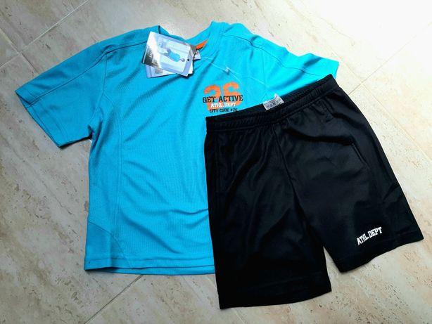 Nowy komplet sportowy spodnie i koszulka na wf piłkarski rozm 116