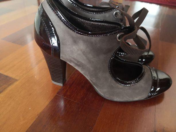 Kordel skóra naturalna buty na obcasie rozmiar 36