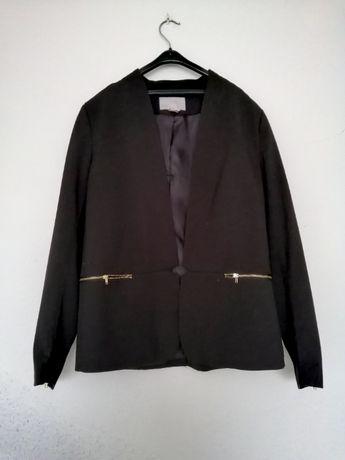 Elegancka czarna marynarka H&M 38