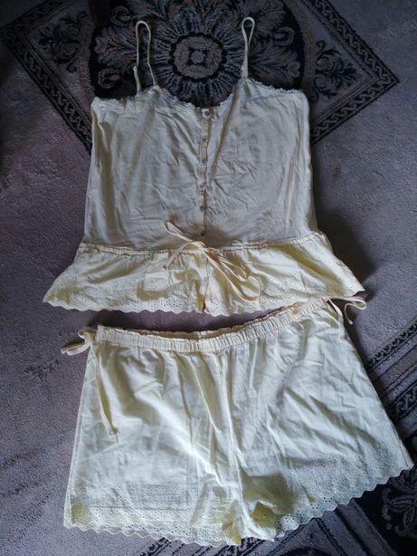 Batystowa żółta piżama letnia L r 44