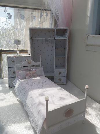 Спальня для куклы Барби, мебель,кукольный дом