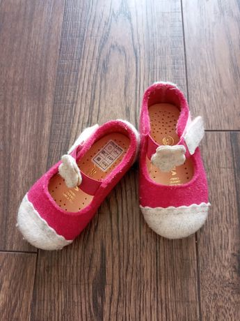 Тапочки туфельки з фетру