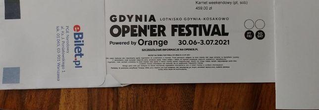 Open'er Festival Bilet 2021 - Karnet weekendowy (pt, sob)