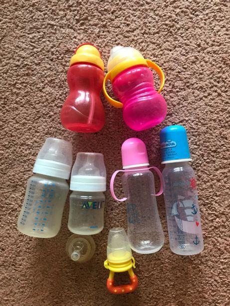 Продам набор бутылочек для кормления бу в идеальном состоянии