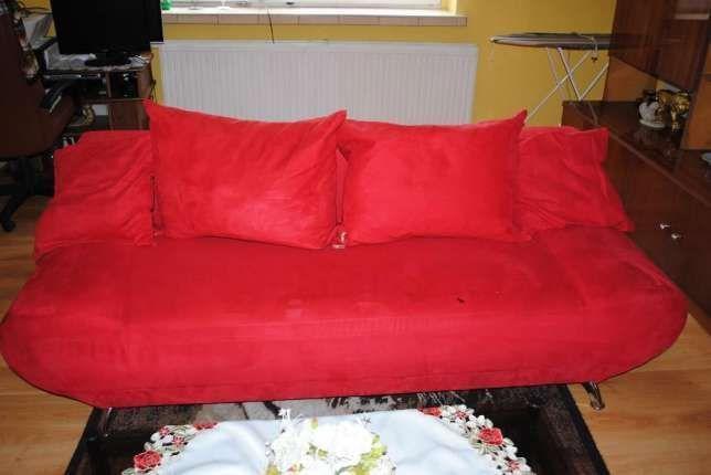 Kanapa łóżko wersalka czerwone