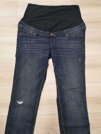 Spodnie jeansy dżinsy ciążowe 48 H&m Skinny Mama Pas ciążowy