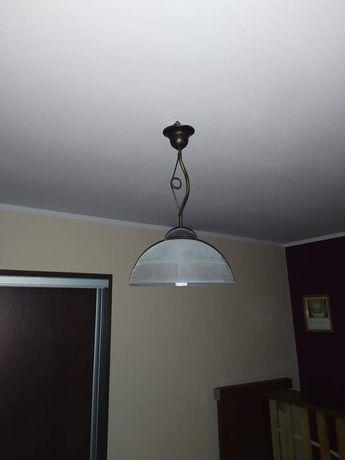 Żyrandol lampa sufitowa okrągła szklana