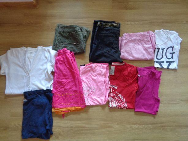 Zestaw ciuszków damskich r.S-M(spodnie,bluzki,spódnice,spodenki)