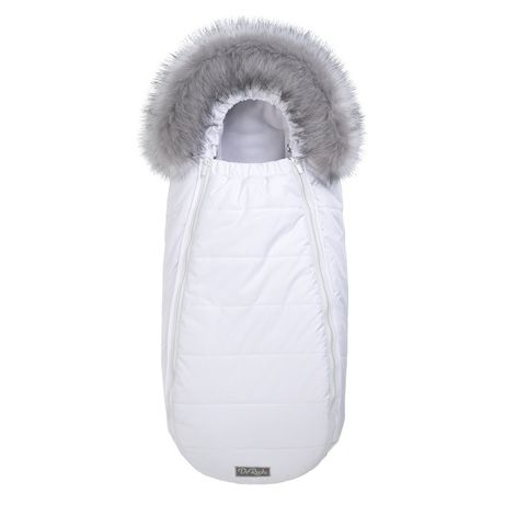Флисовый конверт-кокон с опушкой ДОРЕЧІ Baby XS белый