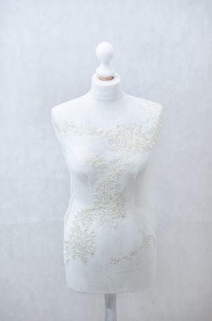 Manekin krawiecki ozdobny biała koronka ślubna – Marzenie rękodzieło
