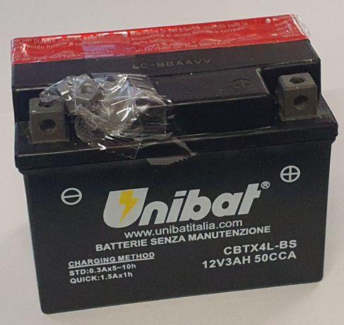 Akumulator Unibat AGM CBTX4L-BS YTX4L-BS ETX4L-BS 3Ah 50A 12V NOWY