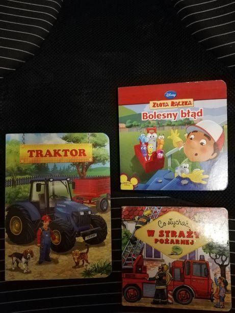 Książeczki o traktorki, narzędziach z grubymi kartami