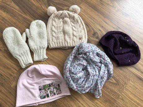 Zestaw akcesoriów dla dziewczynki 6-8 lat, czapki, szal, Reserved