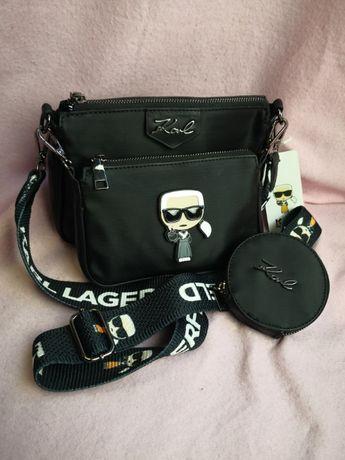 Torba Karl Lagerfeld 3in1 torebki czarne nowość hit premium