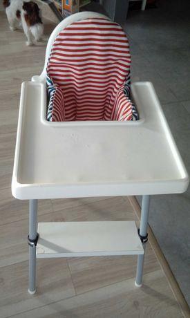 Krzesełko do karmienia Ikea antilop z podnóżkiem