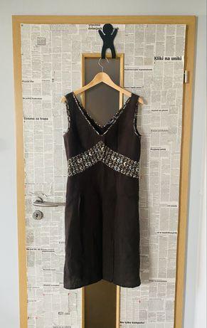 Brązowa sukienka L