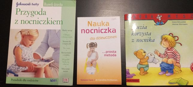 Nauka nocniczka dla dziewczynek,poradniki,3 książki