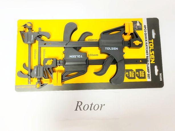 Набор быстрозажимных струбцин Tolsen 10209 4 штуки