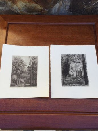 Par de litografias Séc XIX Arte Sácra Cartuja