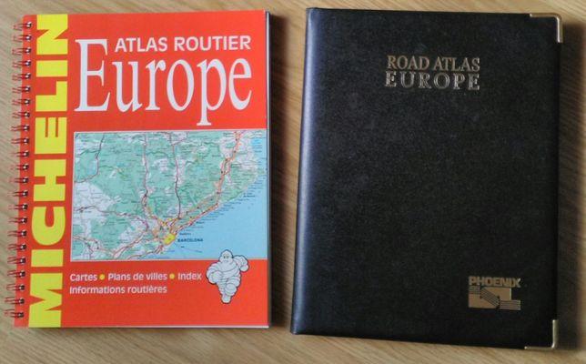 Guia Michelin - Mapa estradas europa - 2 livros