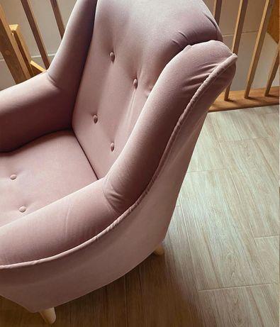 Fotel uszak vintage po renowacji prl