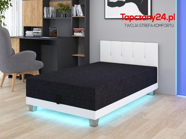 Łóżko jednoosobowe dla dziecka Tapczan młodzieżowy LED +pojemnik
