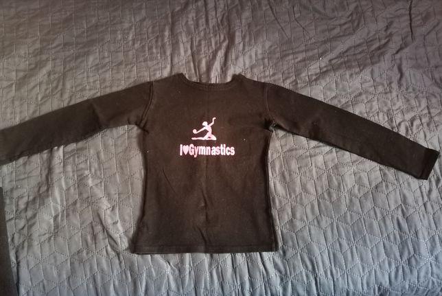 Костюм для гимнастики лосины футболка с рукавом