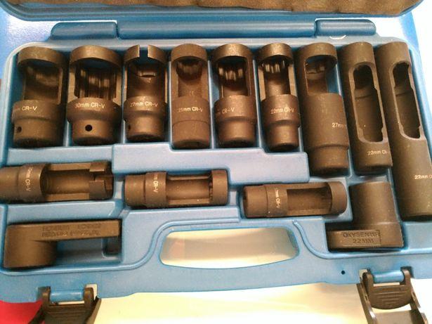 Kit 14 chaves de caixa para sensores Lambda em injectores diesel