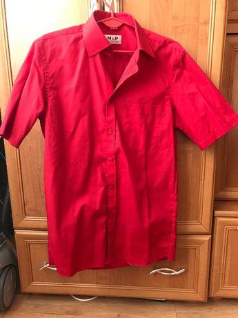 5 Koszul 2x czerwona+3x czarna koszula z krótkim rękawem rozm. S