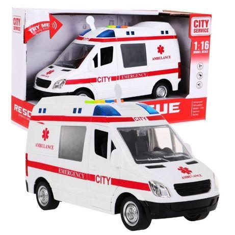 Samochód Karetka Ambulans 1:16 Światła Dźwięki Odbiór Wysyłka