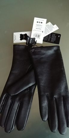 Ekskluzywne włoskie rękawiczki Puccini damskie roz. 7.5 wysoka jakość